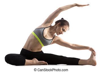 man yoga parivrtta janu sirsasana revolved headknee pose