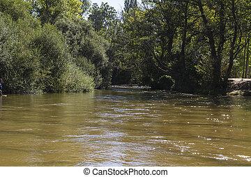 park, alberche riverbank in Toledo, Castilla La Mancha, Spain