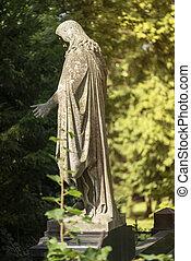 park, altes , skulptur, jesus
