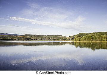 Park and lake landscape