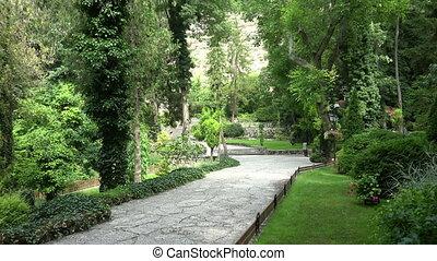 Park at the Monastery Aladza. Varna. Bulgaria. Shot in 4K...