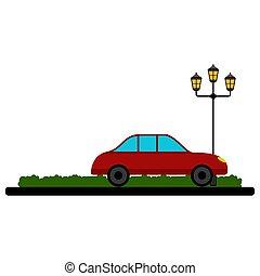 park, auto