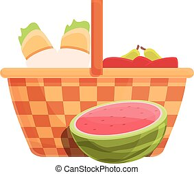 Park basket icon, cartoon and flat style
