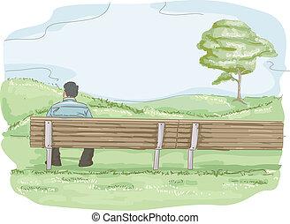 Park Bench Man