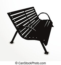 Park bench. Vector illustration.
