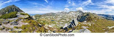 park, bergen, carpathian, (romania)., retezat, aanzicht, nationale, landscape