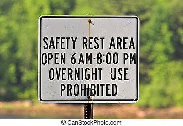 park, bezpieczeństwo, znak