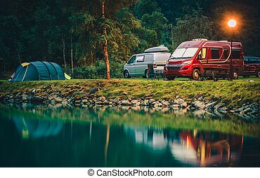 park, campingbus, norwegen, camping