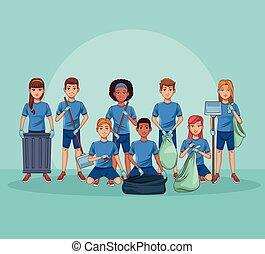 Park cleaning volunteers
