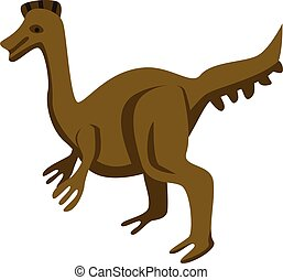 Park dinosaur icon, isometric style