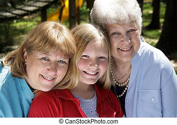 park, drei generationen