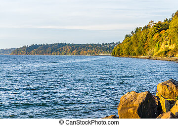 Park Fall Shoreline - A view of the shoreline at Saltwater ...