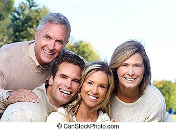 park., famille, heureux