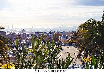 Park G?ell in the morning, Barcelona