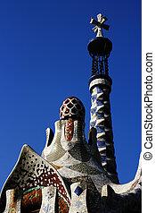 Park Guell Antoni Gaudi Barcelona Spain