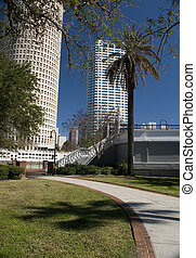 Downtown Tampa - Park in Downtown Tampa, Florida.