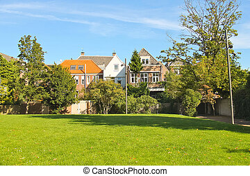 Park in the Dutch city of Dordrecht. Netherlands