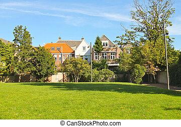 Park in the Dutch city of Dordrecht. Netherlands