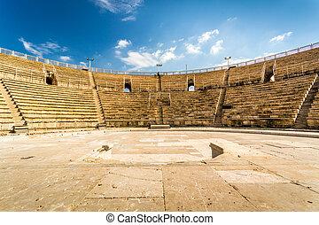 park, israel, cesarea, national, amphitheater