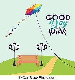 Park landcape summer and spring design