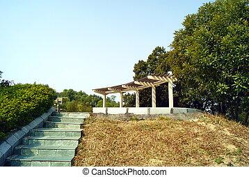 Park landscape pavilion