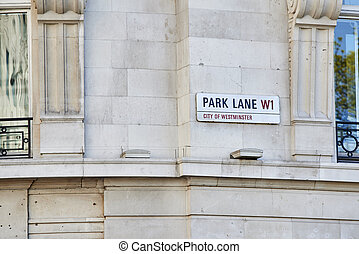 Park Lane sign