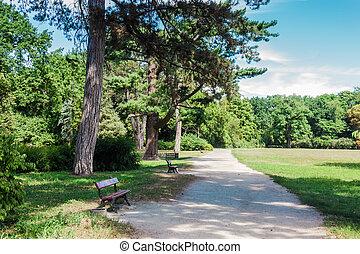 park lavice, cesta