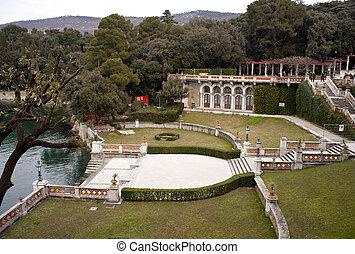 Park, Miramare castle. Trieste - Italy