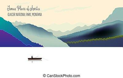 park, national, gletscher, usa, montana