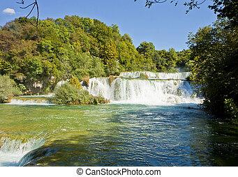 park, national, krka, kroatien, wasserfälle
