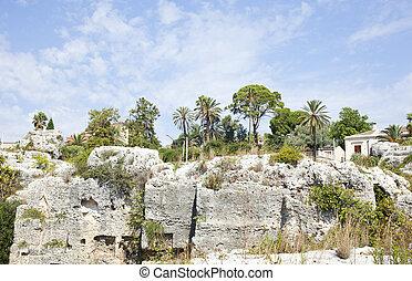 Park, Neapolis in Syracuse - Sicily - Italy