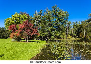park of palace Blatna, Czech Republic