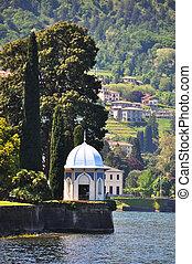 Park of Villa Melzi in Bellagio at the famous Italian lake...