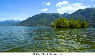 Park on Lake Langensee in the city of Ascona.