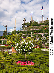 park on the island of Isola Bella. Italy