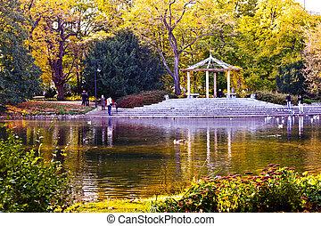 Park ( Park Ujazdowski). Warsaw, Poland