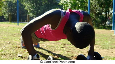 park, przeć, samica, atleta, ups, 4k