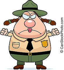Park Ranger Angry