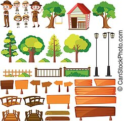 Park rangers and tree products