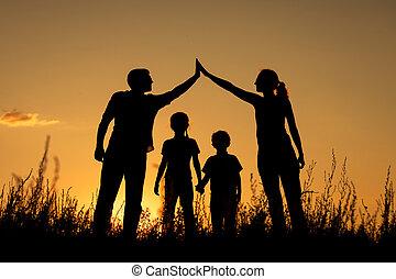 park., rodzina, szczęśliwy, reputacja