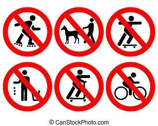 Park rules signs - Park rules no cycling, skating,...
