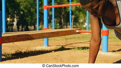 park, samica, atleta, deska, 4k