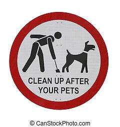 Park Sign (Pet Waste Sign) - %u201CClean up after your...