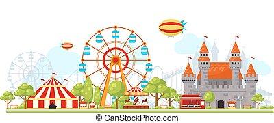 park, skład, rozrywka