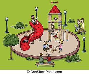 park, speelplaats