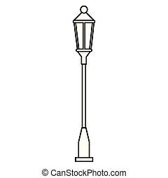 park streetlamp isolated icon vector illustration design