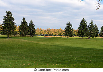 Park with a golf course