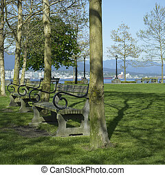 Park with benches