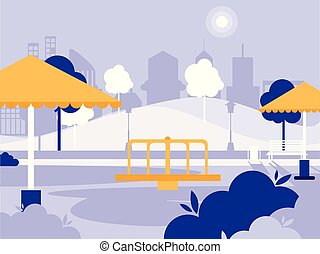 park with playground isolated icon