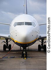 parked., 737-800, boeing